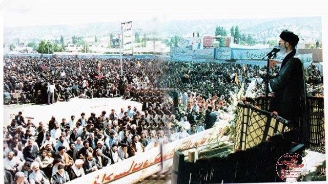 تصاویر کمتر دیده شده از بیعت کهگیلویه و بویراحمدی ها با رهبر انقلاب بعد از رحلت امام خمینی(ره)