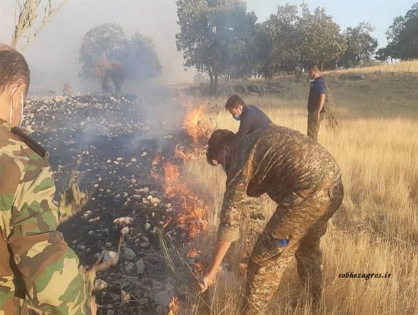 """مهار آتشسوزی """"کوه پهن"""" گچساران پس از نابودی 150هکتار جنگل+تصاویر و فیلم"""