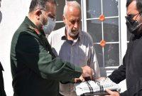 خبر خوش سردار سلیمانی در سفر به شهر زلزله زده سی سخت+تصاویر