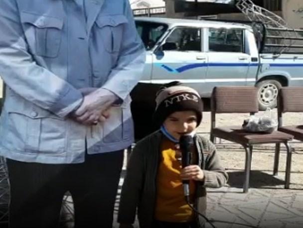 عشق و ارادت به سردار دلها از زبان کوچکترین سربازان  در دنا+ فیلم